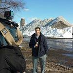 Matt Bove by the newest ski slope in Downtown Buffalo, NY #SNOWvember @7FirstAlert @WKBW http://t.co/CD17GBDMt7