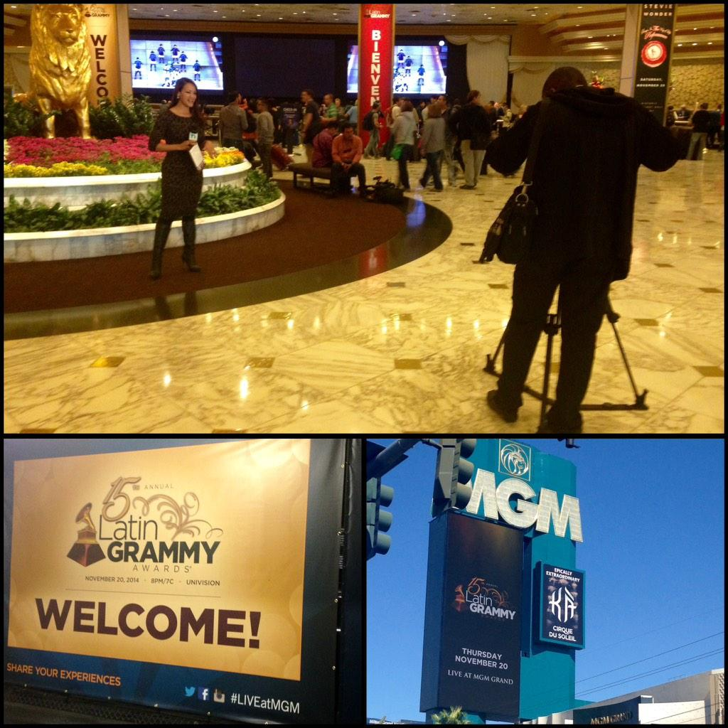 I'm #LiveatMGM Crowds/Media get set 4 sold out #LatinGrammyAwards tomorrow. I'm here 2 #payitforward a room @MGMGrand http://t.co/nEnIN7c9ES