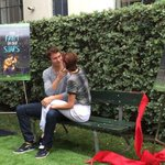 #tfios honorary bench ceremony. Me and shai recreating the moment :) http://t.co/CLrWKCpgb7