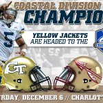 .@GeorgiaTechFB will face Florida State in @theACCfootball Championship game #TogetherWeSwarm http://t.co/6rRf39kVV2 http://t.co/8W6xkv3Um1