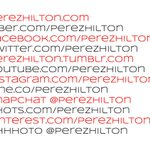 """RT @KandaceClaire: """"@PerezHilton: Keep in touch!"""