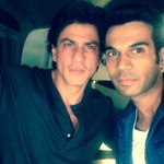 RT @RajkummarRao: Met the superstar, who inspired me to be an actor. Thank you @iamsrk . http://t.co/3miireANMR