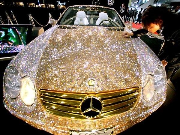 Commissioned by Price Al-Waleed of Saudi Arabia, this diamond and crystal Mercedes is worth $48 million. http://t.co/G5fDgBh12P