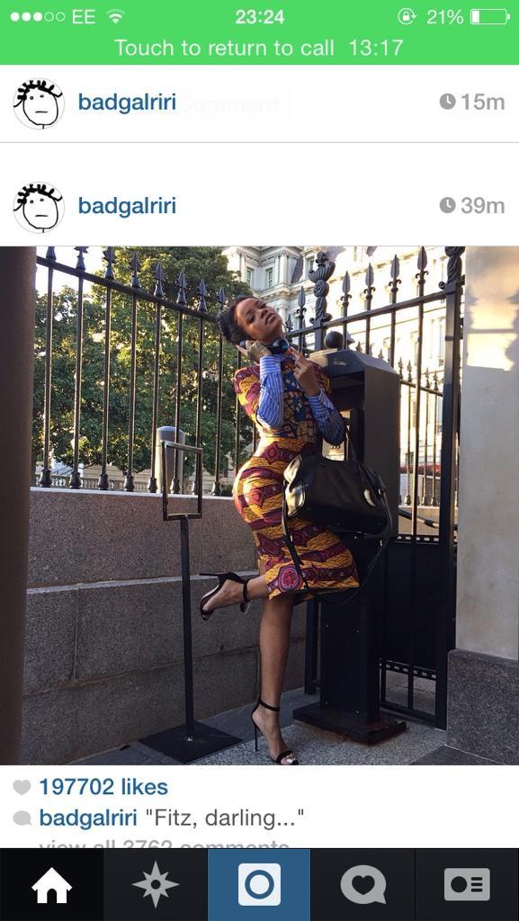 Rihanna went to the white house wearing Ankara http://t.co/4RjCQoQJVA