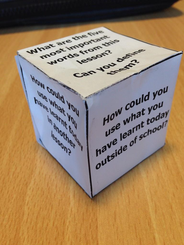 RT @miss_kes: Used Plenary Dice I saw on @tesResources today- Y7 loved it & suddenly reflecting was fun! #geographyteacher http://t.co/HoBz…
