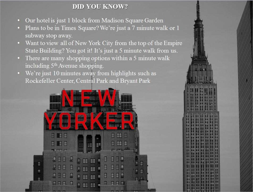 Things to know about us. #NewYorkerHotel #NYC #TimesSquare #HearldSquare #MSG #Shopping #5thAvenue #CentralPark http://t.co/rMwi1dCFFv