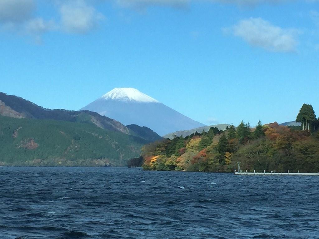 箱根からの富士山が綺麗でした♡ http://t.co/dvg9UO01zm