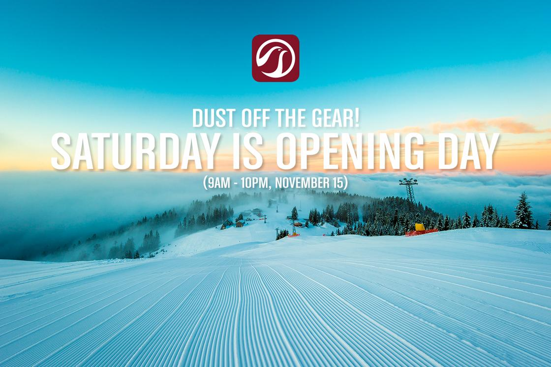 Hey, #Vancouver! Here's some news. We're officially opening on Saturday! #Skiing #snowboarding #jibbing #YVR http://t.co/ubq9kOXxXM
