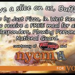 We will provide any volunteers a free meal at Just Pizza, located on Center Rd,in West Seneca! #OneBuffalo #Snovember http://t.co/fxCVB6hGTX