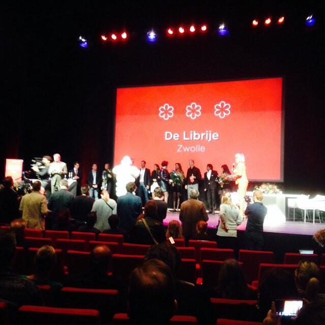 Niet verrassend, maar opnieuw drie sterren voor De Leest en De Librije! #Michelin2015 http://t.co/vQeBpuehzr