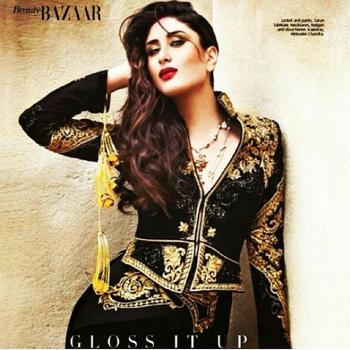 The stunning Kareena Kapoor Khan rocking our Shakuntalam Kaliras in @bazaarbridein November! Looks like a dream!✨❤️✨ http://t.co/uKVBV3093u