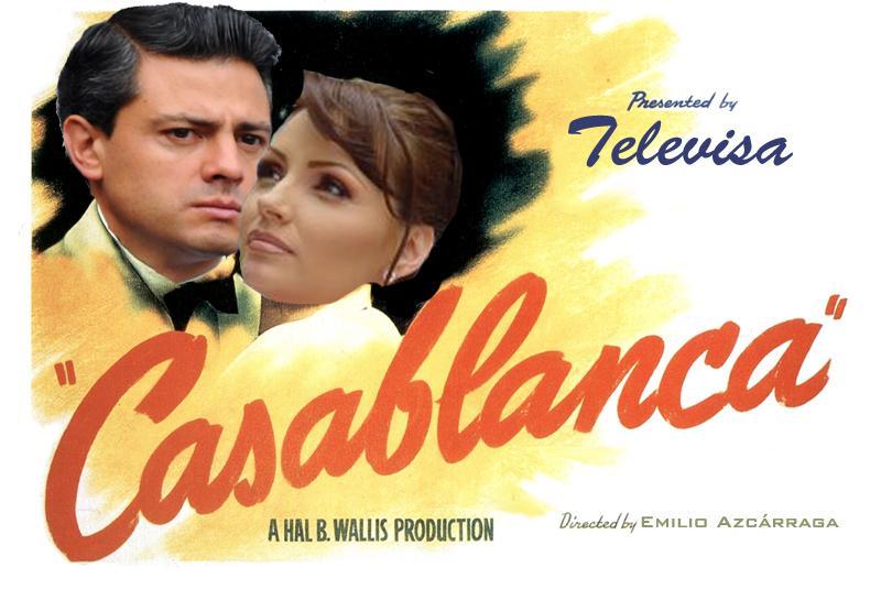 Nueva versión de #Casablanca protagonizada por #AngélicaRivera y #EPN. #YaMeCansé http://t.co/WN1pPcvLmS