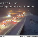 Right now Snoqualmie Pass is closed. I-90 WSB closed at Ellensburg and EB near the the summit. Lots of spin outs. http://t.co/dOIGW4RIN3