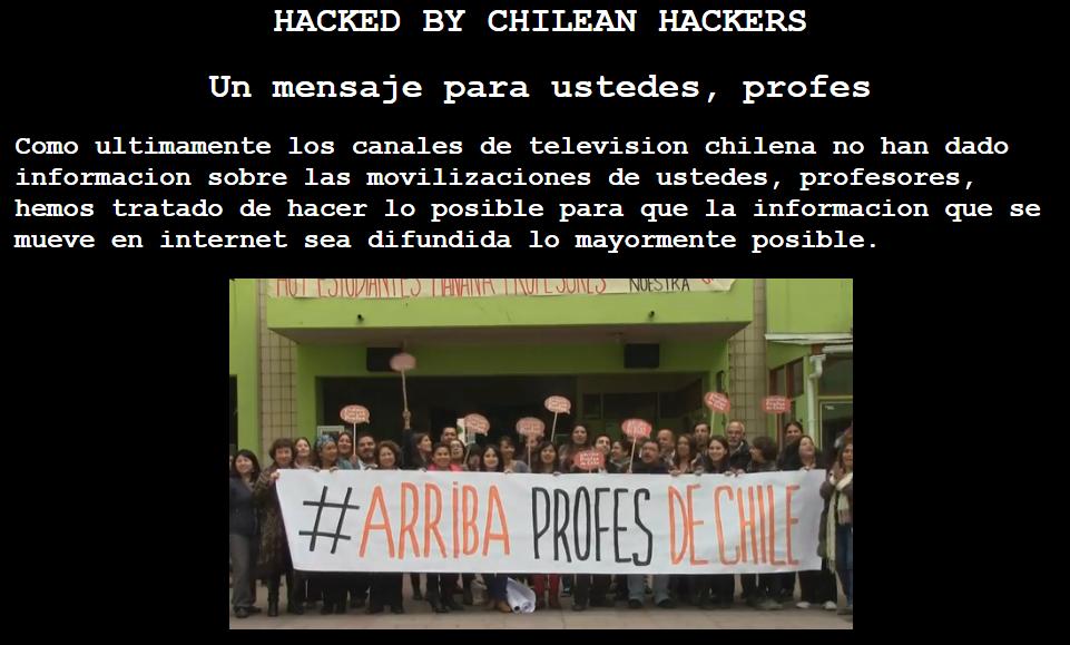 #Parodocente en Chile. Ante la censura de la TV:   Hackearon web de http://t.co/tdjn4dywsV  ;-)) http://t.co/BbUxWEKEb3