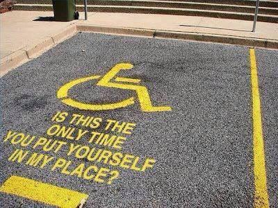 "Excellent RT @LeahMGateway: ""Is this the only time you put yourself in my place""? #accessible #disability http://t.co/cuqtQpxmYu"