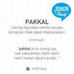 """JohorSlang for today """"Pakkal"""" http://t.co/Ukcr0ZZA39"""