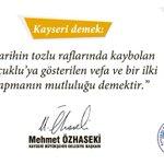 Kayseri demek, tarihe vefa demektir. http://t.co/zqZa1HKr4K