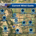 Whew! A windy one across Southern Colorado! Cold front is on its way! Temps will be much cooler tomorrow. #cowx http://t.co/ME8zWGWZLK