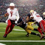 The slump continues. Notre Dame falls to #24 Louisville, 31-28. Irish lose 3rd straight game, move to 7-4 #LOUvsND http://t.co/olzqbpRv2m