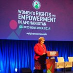 Norway will remain active supporter of efforts to promote #womens rights - PM @erna_solberg at #AfghanWomenOslo http://t.co/KfUBed0nMU