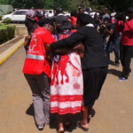 Members of @KenyaRedCross comforting families of the victims of #ManderaBusAttack at Chiromo mortuary. #K24Tv http://t.co/3Foz0hYFIE