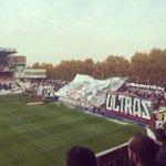 "Tifo de Bukaneros en el Rayo Vallecano - Celta de Vigo ""Antifa Ultras"" http://t.co/AHdRT6GRUz"