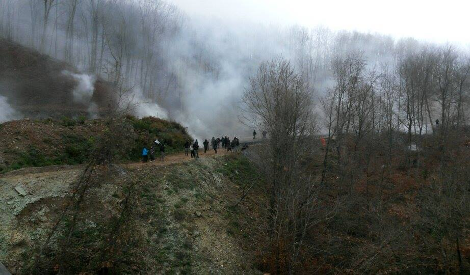 Theodora Oikonomides (@IrateGreek): Demo against gold mining in #Skouries today, repressed brutally by police via @ptsiaras @alterthess http://t.co/dQr3f5DsUU #Greece