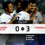FT: @MumbaiCityFC 0-3 @ChennaiyinFC Chennaiyin go three points clear at the top with big away win! #MUMvCHE http://t.co/4axo6zEBsO