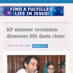 KPK Energy Minister rejects Imrans claim of 350 dams, says No dam, mini-project of 35 MW only http://t.co/BlRrQZFNgU http://t.co/VHkG2tCAaV