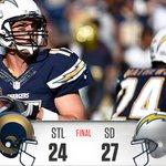 Final Score:   Rams 24, #Chargers 27 #STLvsSD http://t.co/BnVyfR2LlG