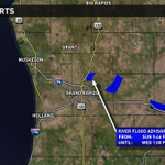 River flood adv. continue for the Rogue below Rockford and the Flat near Smyrna in Ionia Co. #wmiwx @wzzm13wx http://t.co/9sASb12vo0