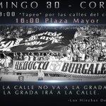 Este domingo enseñaremos a la ciudad que aquí somos del @Burgos_CF Quedada desde la 13:00 en el centro y luego corteo http://t.co/LmTt8cX8bd
