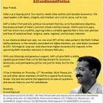 Clean Politics needs Clean Transparent Funding .. Book Now #DinnerWithKejriwal http://t.co/8DFWJphkal