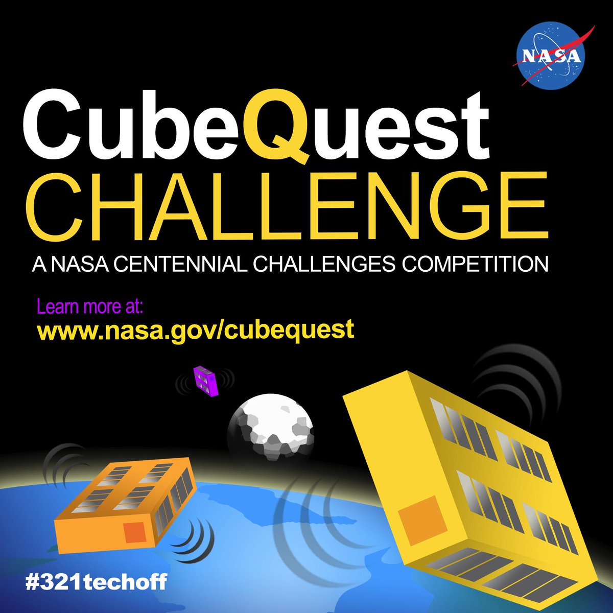 Pleased to announce our brand new Cube Quest #CubeSat Challenge for $5M prize purse! Details: http://t.co/bKBlhu3ohx http://t.co/MXlSqOiupQ