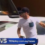 Michael Clarke arrives at St Vincent's hospital where Phil Hughes has been taken in a critical condition #TenNews 5pm http://t.co/Kej8KPucWd