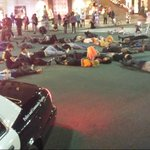 #Ferguson protesters lying in the middle of Beverly Hills famous Rodeo Drive, playing dead for Michael Brown. @KTLA http://t.co/cFFm5gJz3D