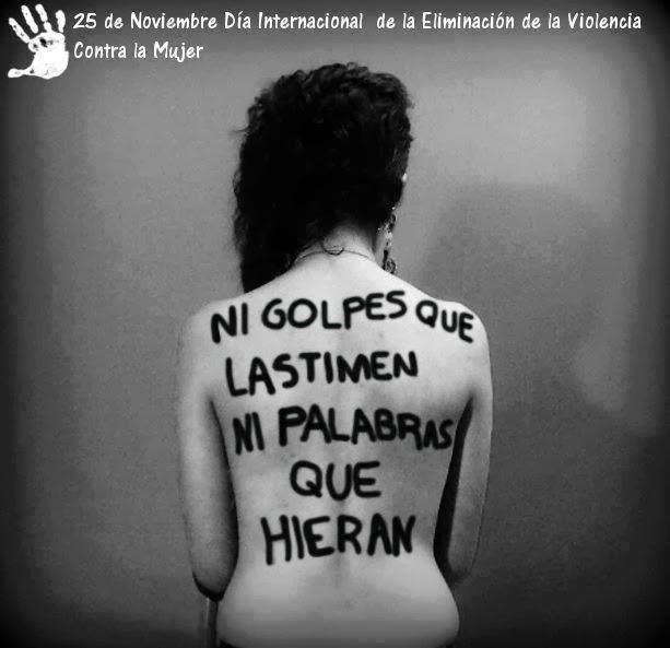 """25 de noviembre """"Día Internacional de la Eliminación de la Violencia contra la Mujer"""" http://t.co/AKWID9HJY0"""