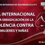 El SIS @ECU911_ conmemora el día de la erradicación de la violencia contra mujeres y niñas http://t.co/MI642idVd1
