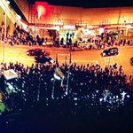 A large protest about #Ferguson in #Atlanta near Underground Atlanta and @CNN building. All is peaceful http://t.co/NwDSqoWuzs