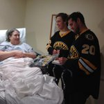 Paille + Pastrnak spread some pre-Thanksgiving joy @HallmarkHealth Center in Stoneham. Watch: http://t.co/ztA5JewqGj http://t.co/CfmKeNI1UN