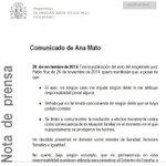 Dimite Ana Mato. Por un auto (judicial). http://t.co/YwF62p8fWD