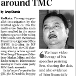 Saradha scam: Noose tightening around TMC. No wonder Mamata Banerjee has been screaming hysterically off late. http://t.co/qiP0mec0lM