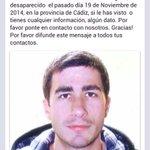 @portalcadista Ha desaparecido el hermano de un buen amigo en Cádiz. Os agradecería un RT para ayudar a encontrarlo http://t.co/tb8J98dkXD