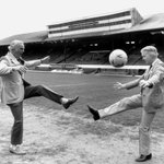 This is a wonderful photo, too. Arthur Montford & Archie MacPherson playing keepie uppie on Hampdens turf #stramash http://t.co/8c84SP2OHE