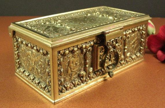 Erhard & Sohne Brass Bronze Jewelry Casket // by Successionary   Found at http://t.co/YakYWziMPR #Etsy @Successionary http://t.co/vcbIcpM7Bu