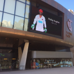 Tributes paid to Phillip Hughes on the Adelaide Oval scoreboard & screens. More tributes here http://t.co/bIZTwdp2ey http://t.co/o8r2tXqg0v