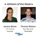 Congrats to @ACAA_AASC Athletes of the Week Jessica Barna of @TommiesSTU & Thomas Watson of @UKCBlueDevils http://t.co/nhF4Urg8I4