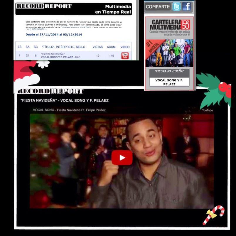 Aquí podrás votar por #FiestaNavideña http://t.co/vs6EACxqI9 de @VocalSong feat @Felipe_Pelaez en todas las #Radios http://t.co/aOOeC6H4VJ