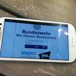 """VOLL EKLIG! RT @LinkePresseDo: Selbst das WLAN """"Dient.Deutschland.[sic!]"""" #kriegistkeinfunsport #YOUmesse #bundeswehr http://t.co/yHvL5GpWJA"""