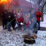 @CBCHamilton @CBCEarlyEdition Show us yours!This is how @CBCEyeopener tailgates in -20. And you? Go Stamps! #GreyCup http://t.co/ay6bczcxgs